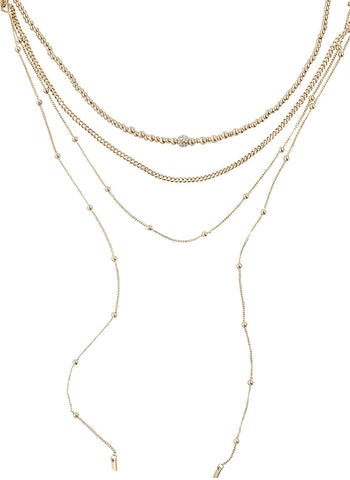 Ettika Gold Plated Sophisticated Strands Necklace Set