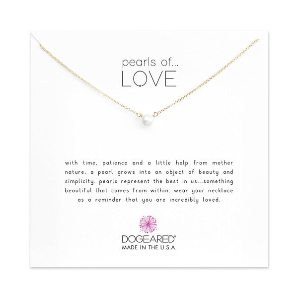 Dogeared Pearls of Love Small Pearl Necklace