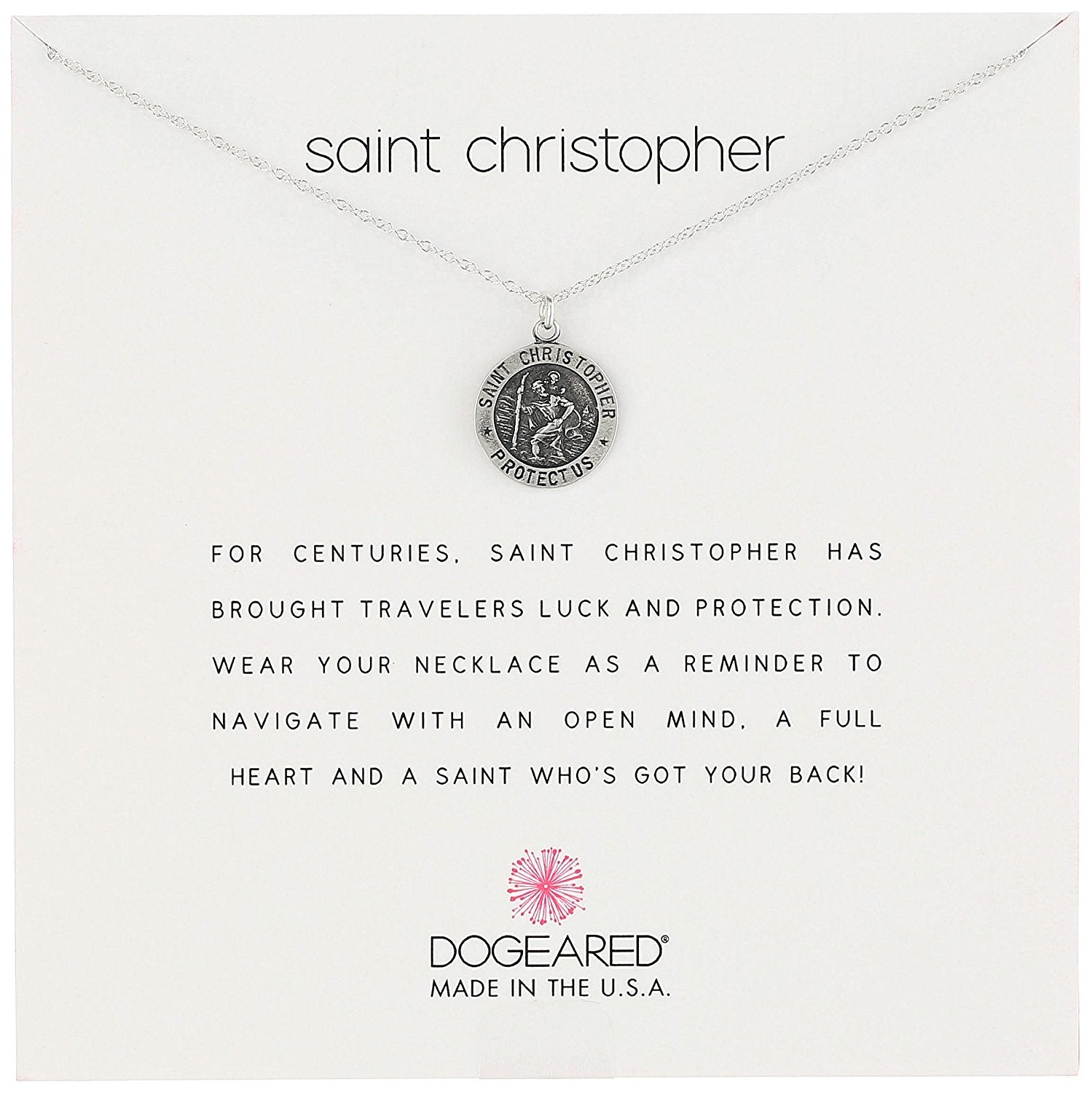 Dogeared Saint Christopher Travelers Necklace