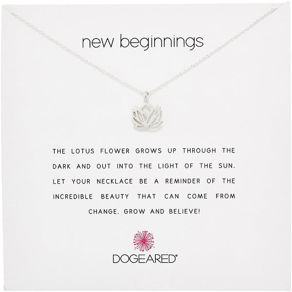 Dogeared New Beginnings Rising Lotus Necklace
