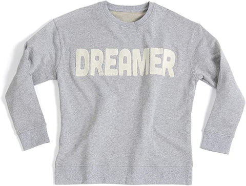 Shiraleah Women's Cotton Dreamer Crewneck Grey Sweatshirt Shirt