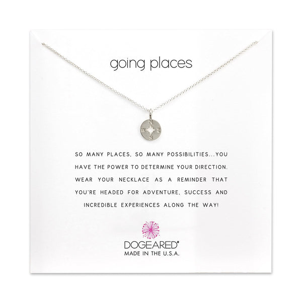 Dogeared Going Places Compass Disc Necklace