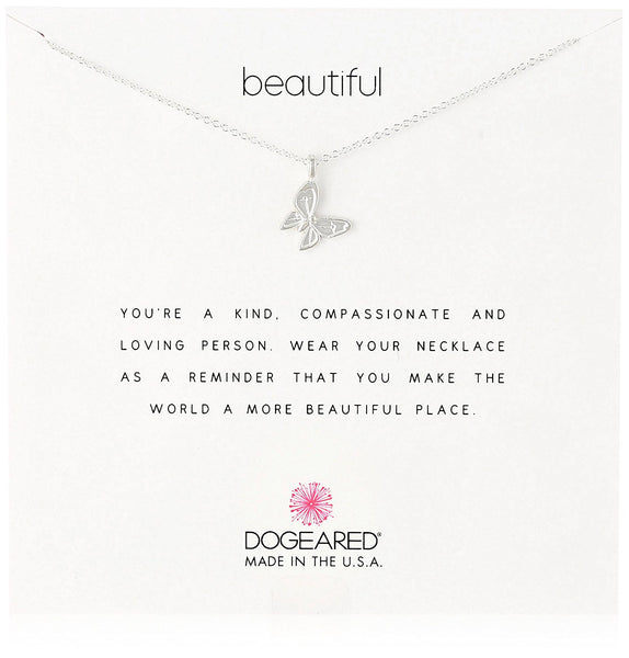 Dogeared Beautiful Enchanted Butterfly Sterling Silver Necklace