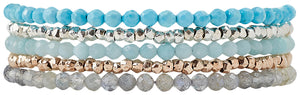 Chan Luu Turquoise Mix Naked Five Wrap Bracelet