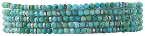 Chan Luu Turqouise Naked Five Wrap Bracelet or Necklace