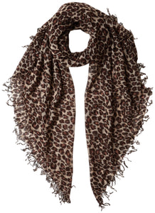 Chan Luu Leopard Print Cashmere And Silk Scarf, Doeskin