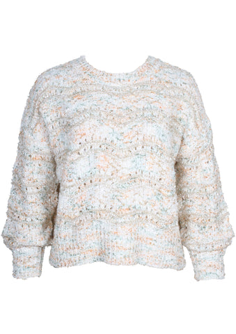 MINKPINK Kasey Knit Pullover Sweater, White/Multi