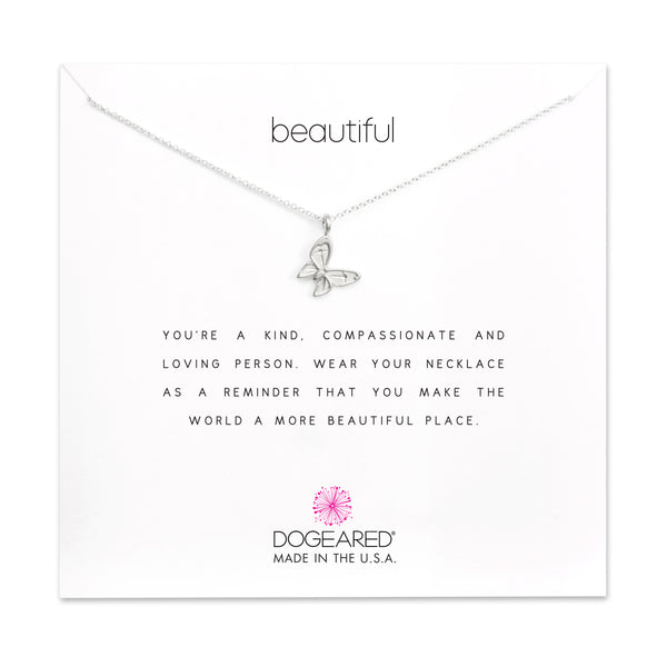 Dogeared Beautiful Enchanted Butterfly Necklace