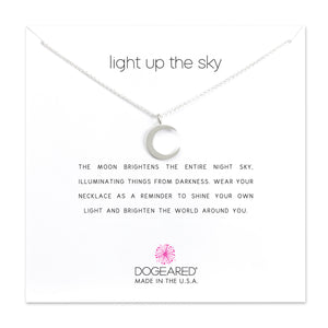 Dogeared Light Up The Sky Thin Crescent Moon Necklace