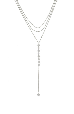 Ettika Bali Dreams Rhodium Plated Layered Three Row Necklace