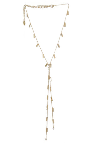 Ettika Gold Plated Sweet Escape Rectangle Drops Necklace