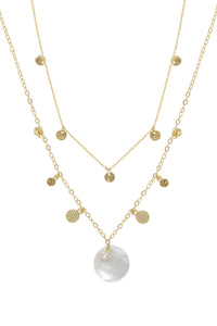 Ettika Atlantis Shell Layered Gold Plated Layered Necklace Set
