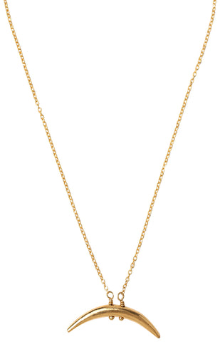 Chan Luu Womens Yellow Gold Petite Horn Necklace