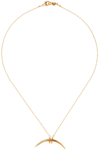 Chan Luu 18k Gold Plated Yellow Horn Necklace
