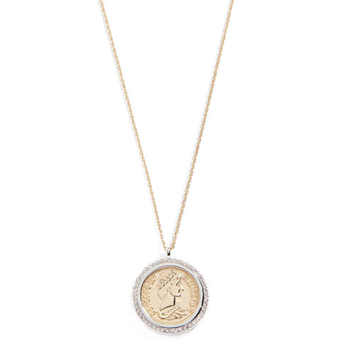 SHASHI Women's Gold Plated Warrior Pendant Coin Necklace