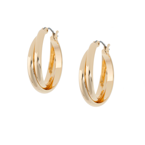 SHASHI Vera Gold Plated Hoop Pierced Earrings