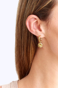 Chan Luu 18K Gold Plated Coin Hoop Earrings