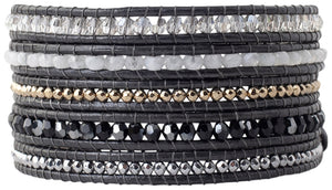 Chan Luu Grey Mix Wrap Bracelet