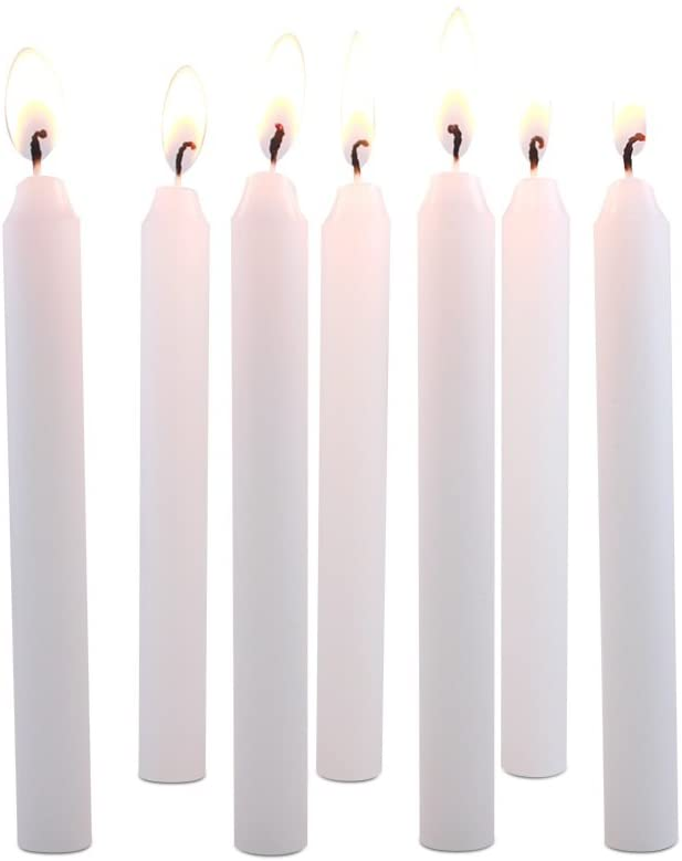 104 White Colored Spell Candles