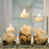 Small White Floating Candles - 16-Pack - 4 hours Burn Time