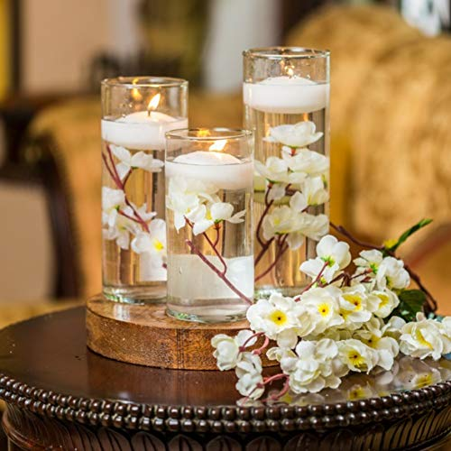 Small White Floating Candles - 30-Pack - 4 hours Burn Time