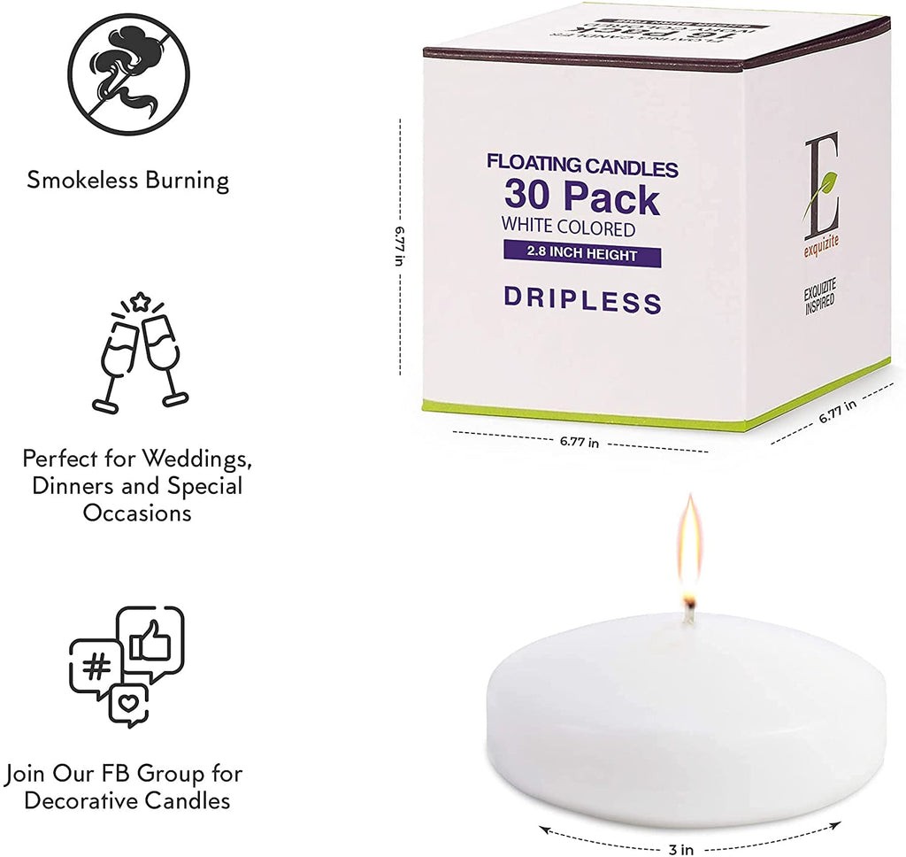 Ivory Taper Candles - 30-Pack - 8 Hour Burn Time