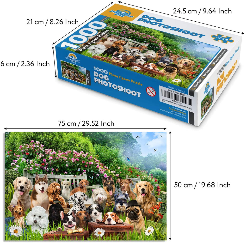 JoyMountain Peak 1000 Piece Dog Puzzles for Adults
