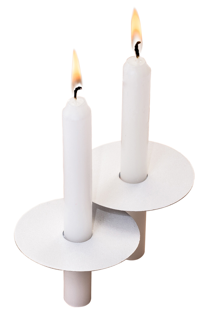52 Church Candles with Drip Protectors