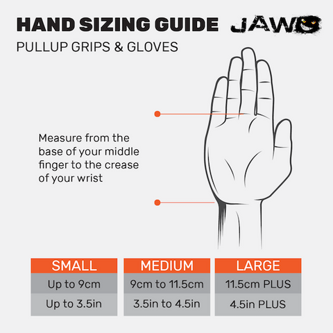 Jaw hand sizing guide