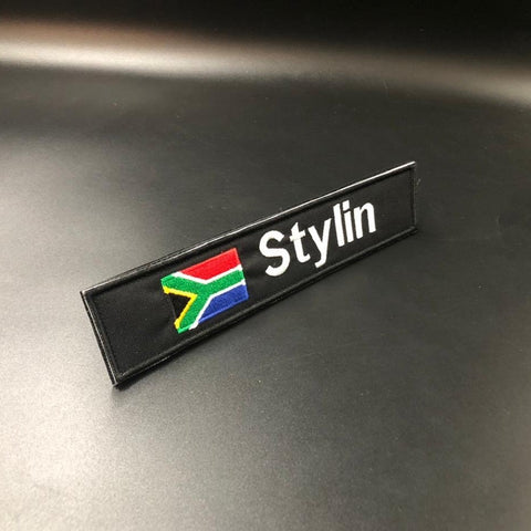 Name Patch with Flag  (Velcro)