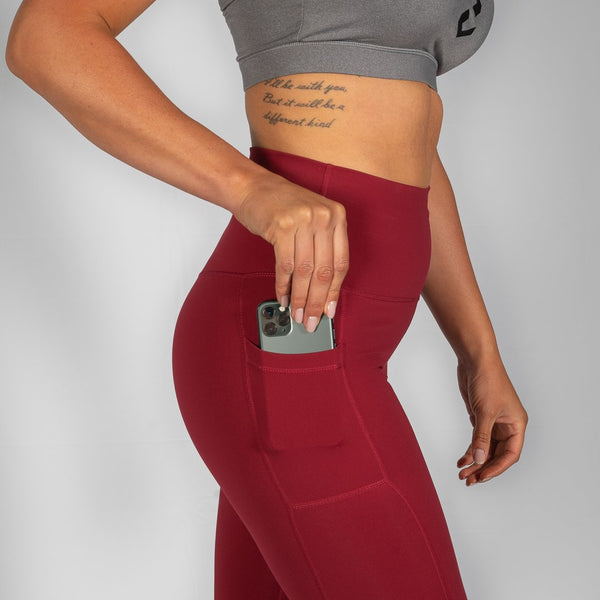 Nuluxe HVY REP Merlot / White Leggings