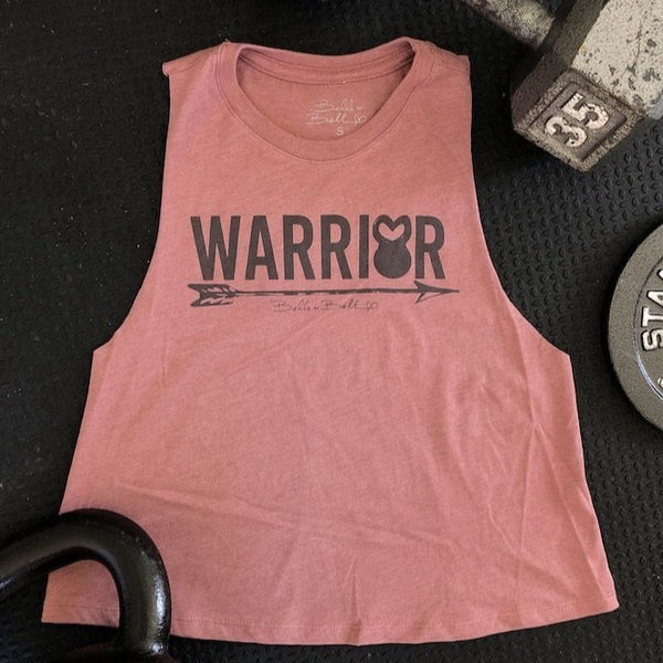 Warrior - Cropped Racerback-Apparel-The WOD Guys