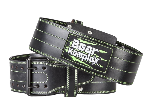 Leather Bear Komplex Buckle Belt-Belts-The WOD Guys