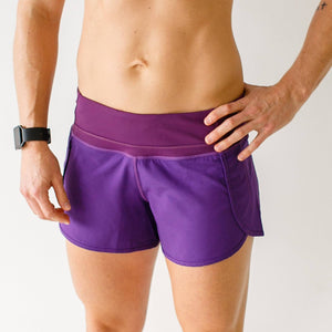 Free Flow Shorts (Eggplant)-BORN PRIMITIVE-The WOD Guys