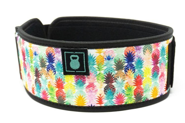 Pineapple Straight Weightlifting Belt-2POOD-The WOD Guys