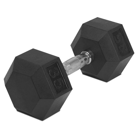 Hexagon Rubber Dumbell (Pair)-Alex-The WOD Guys