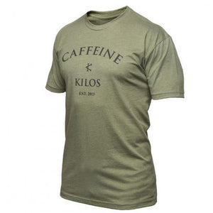 thewodguys-com - Caffeine & Kilos Logo Shirt Military Green - Apparel