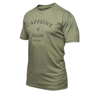 Caffeine & Kilos Logo Shirt Military Green
