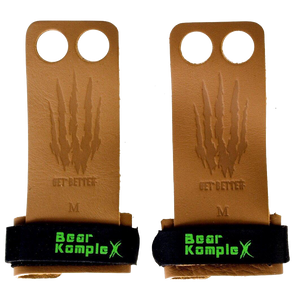 Bear KompleX: 2 Hole Leather Grips
