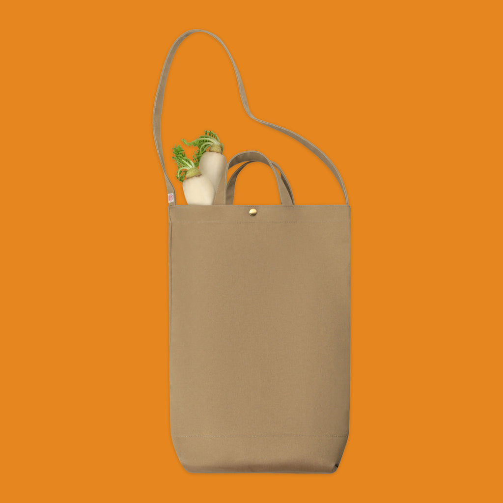 Daikon tote by Niwaki with whtie radish inside