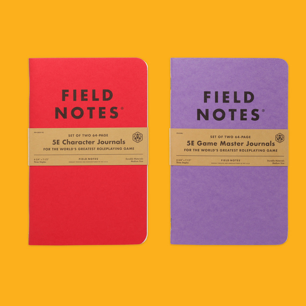 Field Notes 5E Gaming Journals Front On