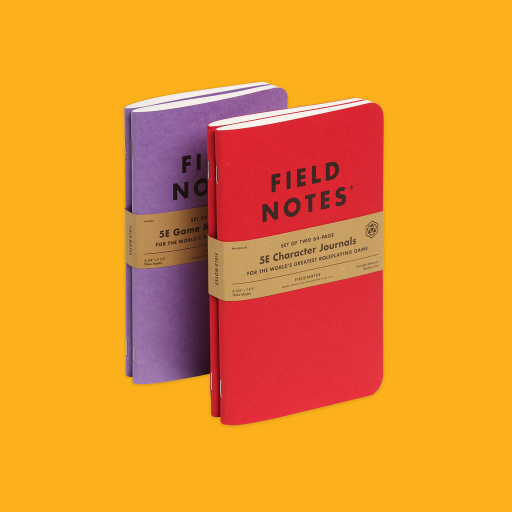 Field Notes 5E Gaming Journals