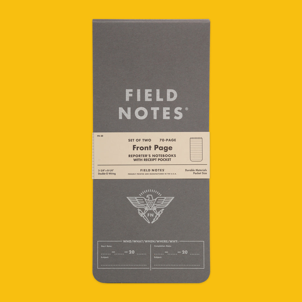 Field Notes Front Page Reporter's Notebook Front Cover