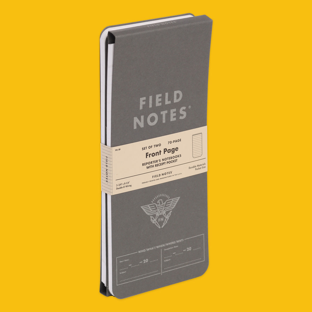 Field Notes Front Page Reporter's Notebook 2 Pack