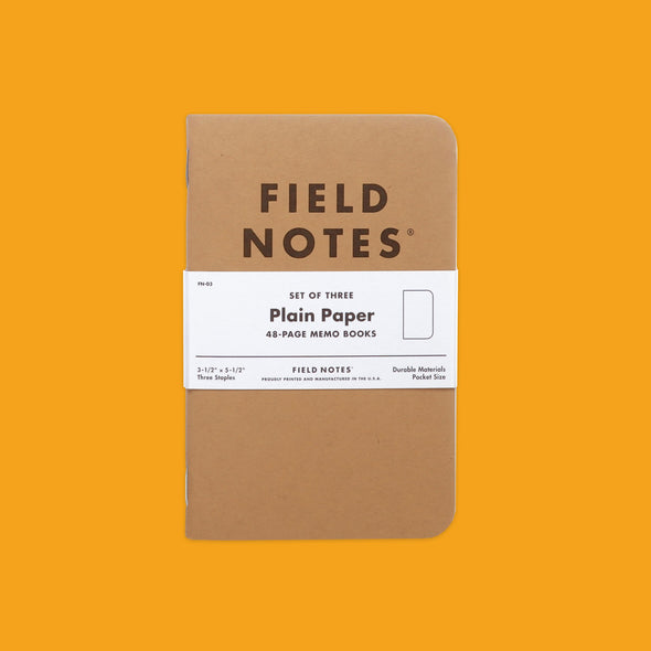 Field Notes Original Plain Pack
