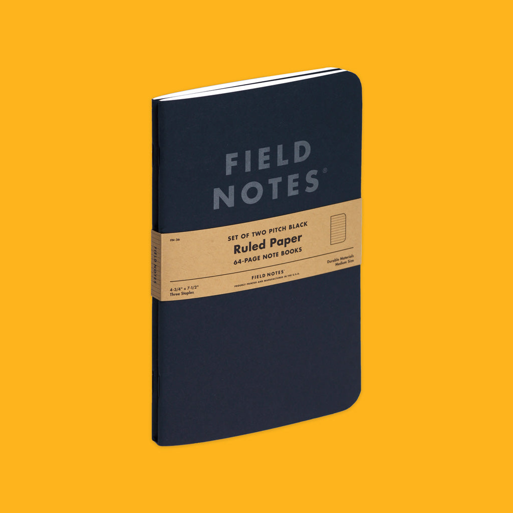 Field Notes Pitch Black Notebook Ruled