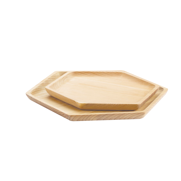 Cedar Wood Hex Trays