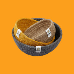 Jute Mini Bowl Set in Beach