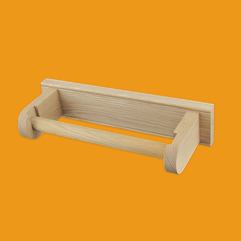 Oak kitchen roll holder