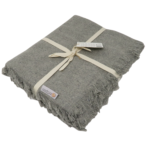Recycled Wool Throw with Fringe